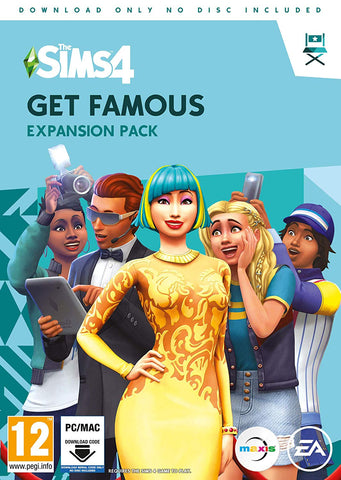 The Sims 4 Get Famous Expansion Pack (PC DVD - Download Code)