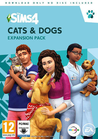 The Sims 4 Cats and Dogs Expansion Pack (PC DVD - Download Code)