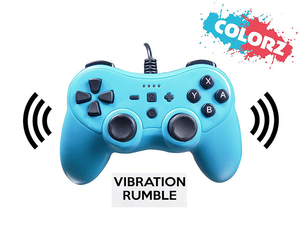 Subsonic Colorz Wired Controller - Neon Blue (Nintendo Switch)