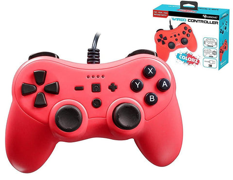 Subsonic Colorz Wired Controller - Neon Red (Nintendo Switch)