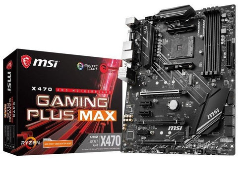 MSI X470 Gaming PLUS MAX AM4 DDR4 ATX Motherboard
