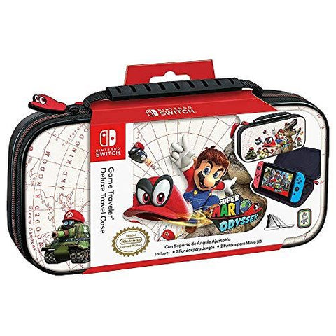 Official Mario Odyssey Travel Case White for Nintendo Switch