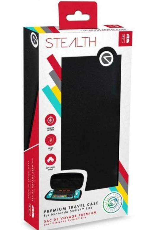 STEALTH Premium Travel Case for Nintendo Switch Lite - Black