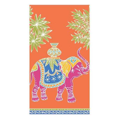 CASPARI - ROYAL ELEPHANT HOSTESS/GUEST TOWEL NAPKINS