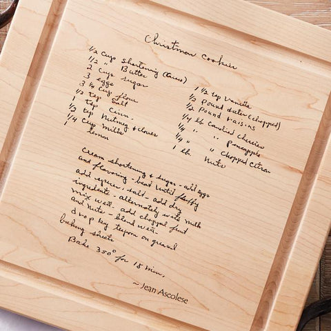 personalized recipe board