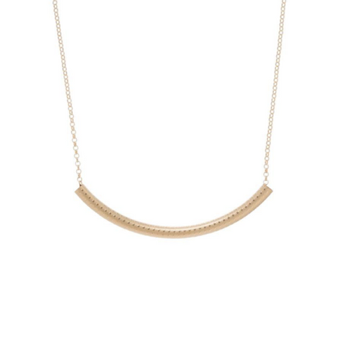 "enewton - necklace -  16"" necklace gold - bliss bar textured gold"