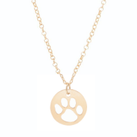 "enewton - 16"" Necklace Gold - Paw Print"