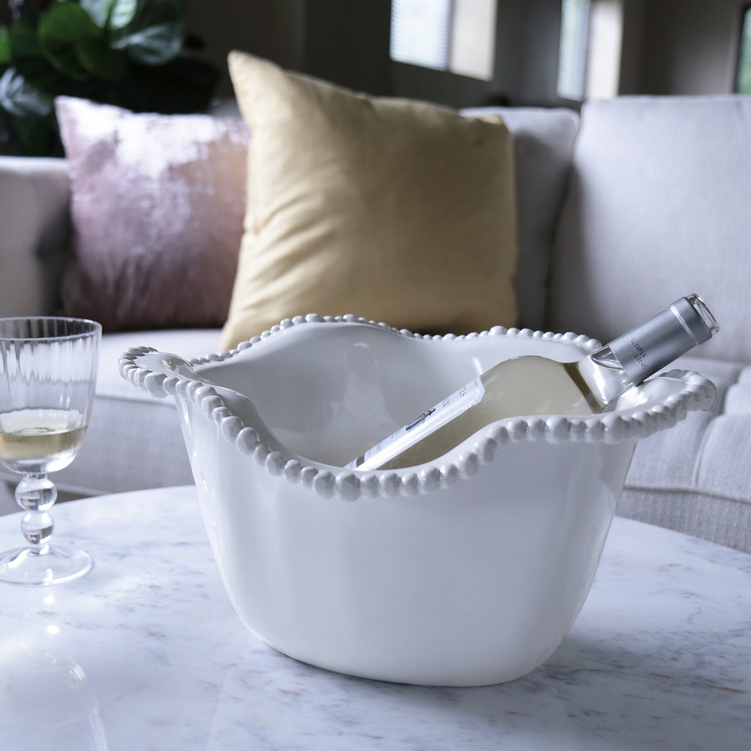 VIDA Alegria Ice Bucket - LARGE in family room with wine