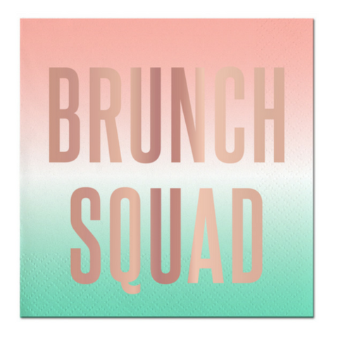 Foil Paper Beverage Napkins - Brunch Squad