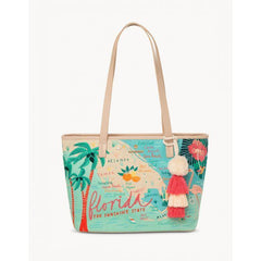 Spartina 449  FLORIDA EMBROIDERED FRINGE TOTE