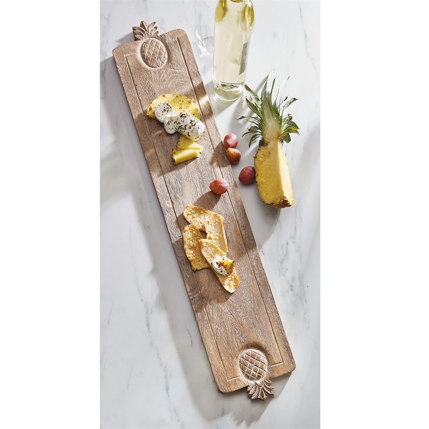 MUD PIE - CARVED WOOD PINEAPPLE SERVING BOARD -CHARCUTERIE
