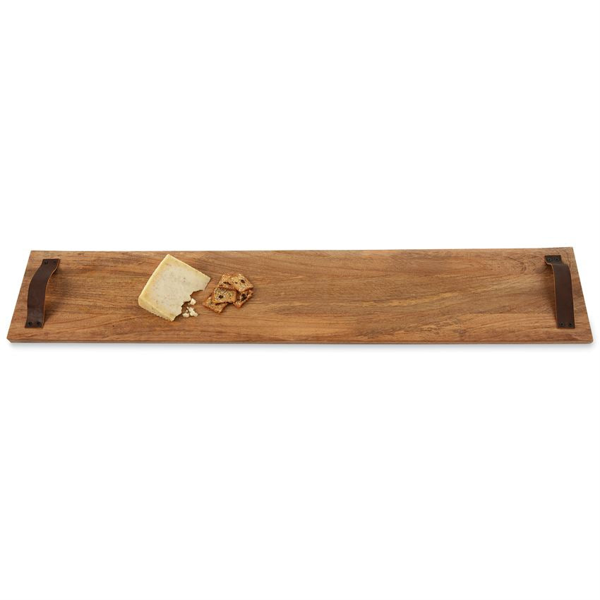 MUD PIE - LONG OVERSIZED WOOD BOARD SHOWN BEING USED AS A CHARCUTERIE BOARD