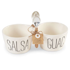 MUD PIE - SALSA & GUAC DOUBLE DIP SET, Front View