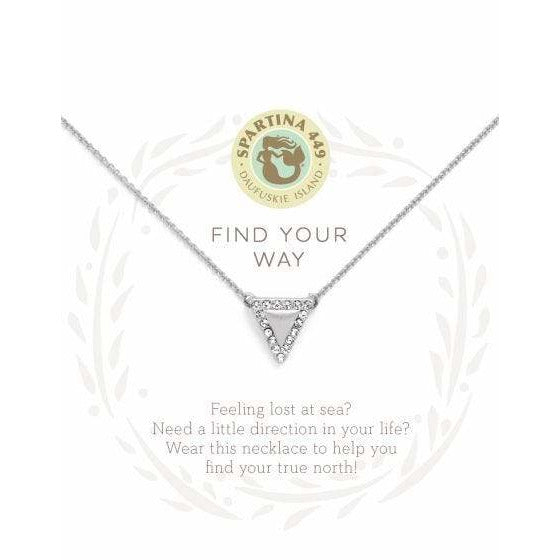 Spartina 449 SEA LA VIE FIND YOUR WAY NECKLACE - SILVER