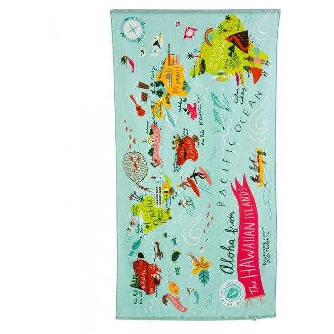 Spartina 449 HAWAIIAN ISLANDS BEACH TOWEL