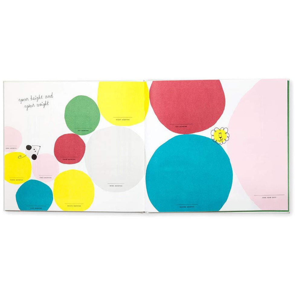 Kate Spade New York Hey Baby First Year Keepsake Book for Baby Milestones