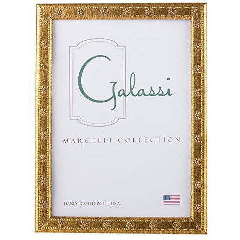 F. G. Galassi - Marcelli Collection Italian Designed Resin Moulding Photo Picture Frame - Thin Gold Daisy 5x7