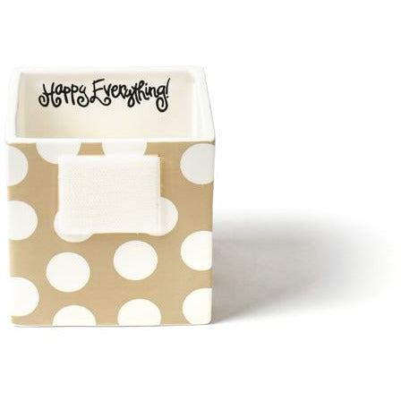 Happy Everything  Small Mini Nesting Cube neutral dot