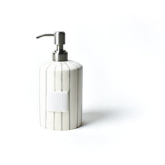 Happy Everything - Mini Cylinder Soap Pump, Stone Skinny Stripe Version