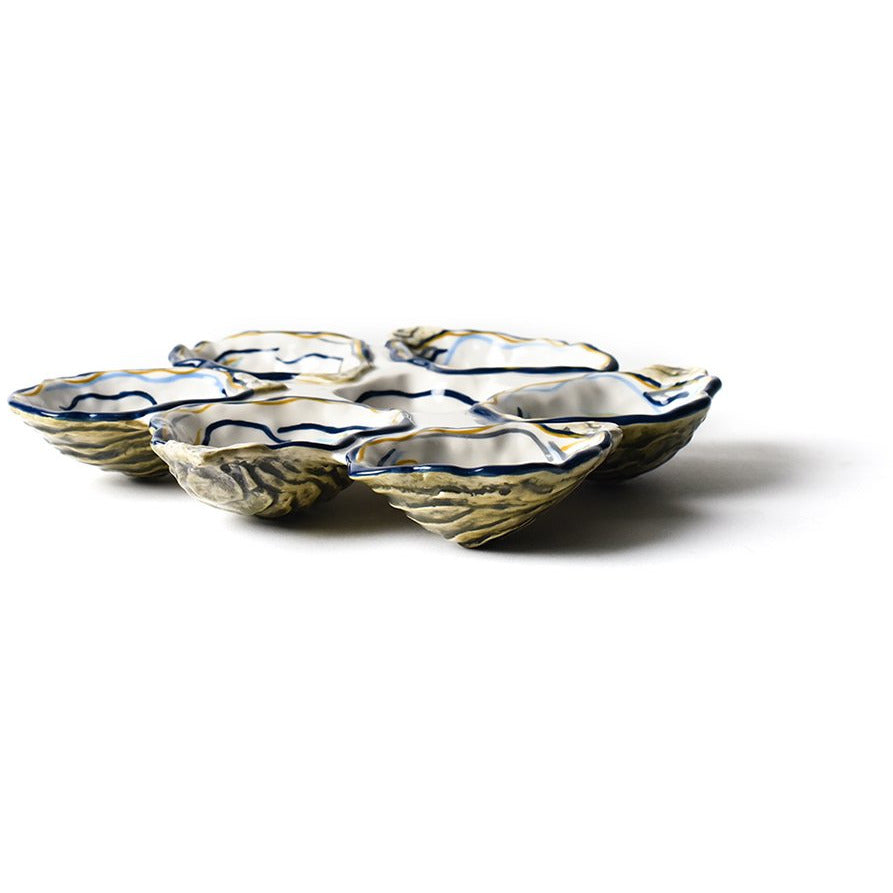 Coton Colors -  Oyster Half Dozen Platter - side view