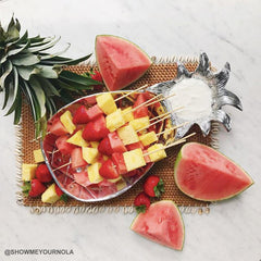 Beatriz Ball - GARDEN Pineapple Chip & Dip - SMALL SHOWN WITH FRUIT SKEWERS OF  PINEAPPLE AND WATERMELON