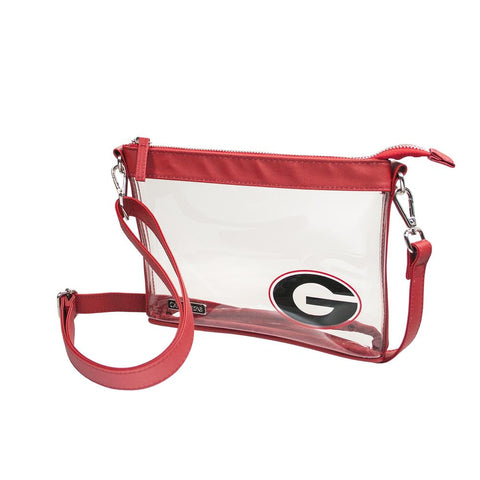 Capri Designs Clear Stadium Crossbody - University of Georgia Logo