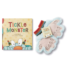 Tickle Monster Laughter Kit - Includes the Tickle Monster Book and Fluffy Mitts would be a great gift  for your grandsons first birthday