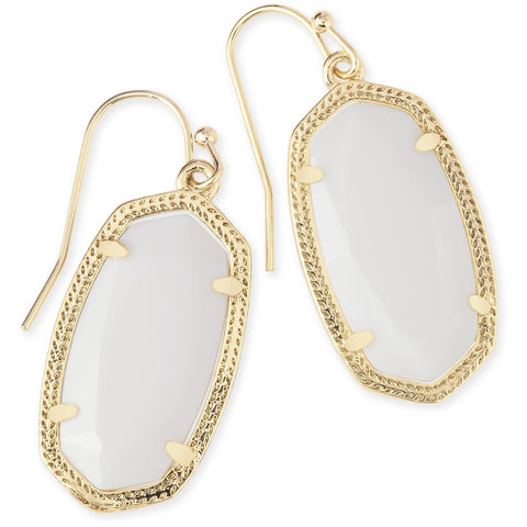 Kendra Scott - Dani Gold Drop Earrings in White Mother-of-Pearl