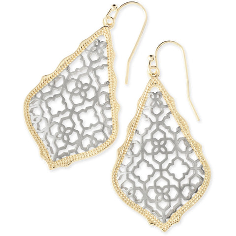 Kendra Scott - Addie Gold Drop Earrings in Silver Filigree Mix