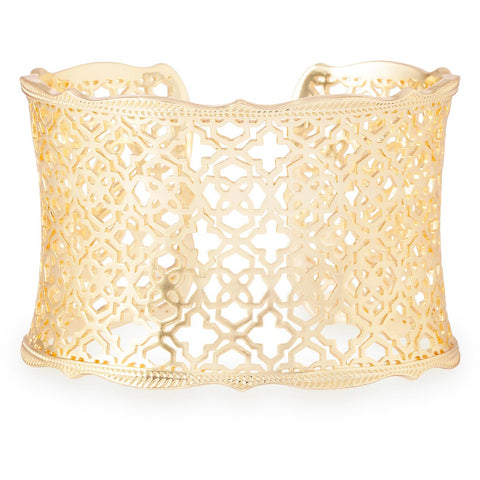 Kendra Scott -  Candice Gold Cuff Bracelet In Gold Filigree Mix