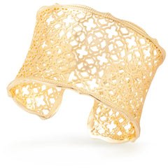 Kendra Scott -  Candice Gold Cuff Bracelet In Gold Filigree Mix different view