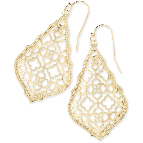 Kendra Scott - Addie Gold Drop Earrings In Gold Filigree Mix