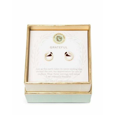 Spartina 449 SEA LA VIE GRATEFUL HOOP EARRINGS