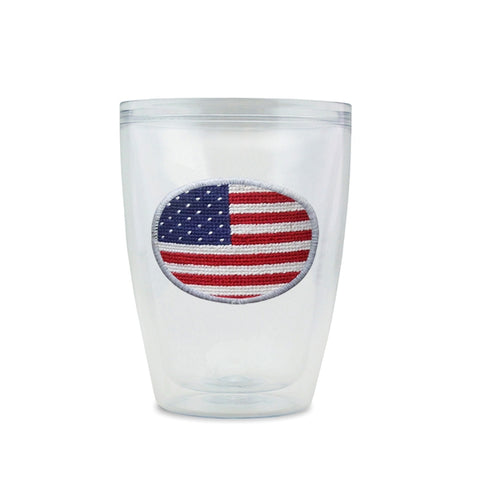 Smathers & Branson Big Flag Needlepoint Tumbler