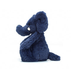 Jellycat Bashful Blue Elephant side view