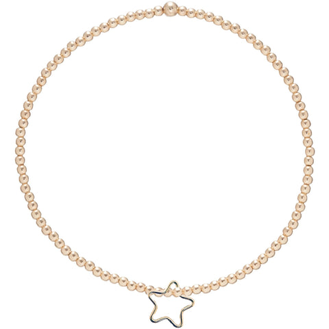 enewton - Bracelet -  Classic Gold 2mm Bead Bracelet - Star Gold Charm