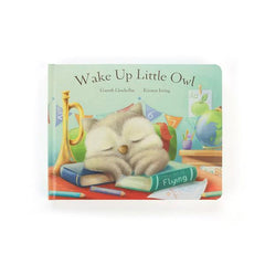 Jellycat - Wake Up Little Owl Book, Front View