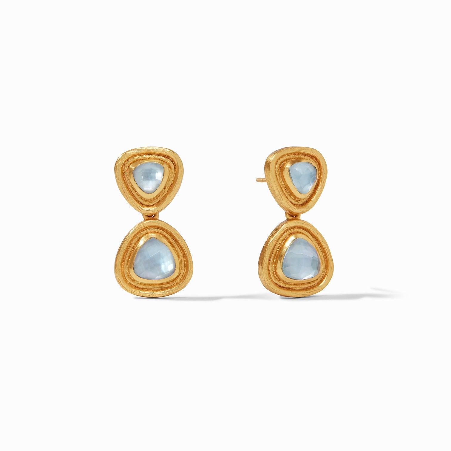 JULIE VOS - Barcelona Midi Earring - Iridescent Chalcedony Blue