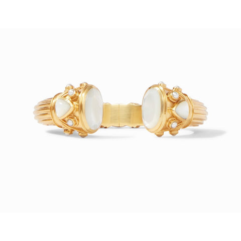 JULIE VOS - BYZANTINE HINGE CUFF Mother of Pearl