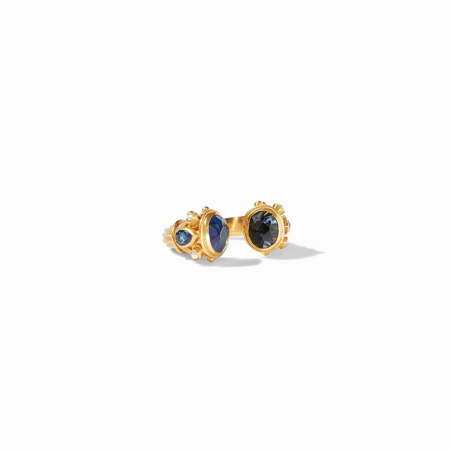 Julie Vos - Byzantine Ring - Blue Sapphire - Size Large, Front View