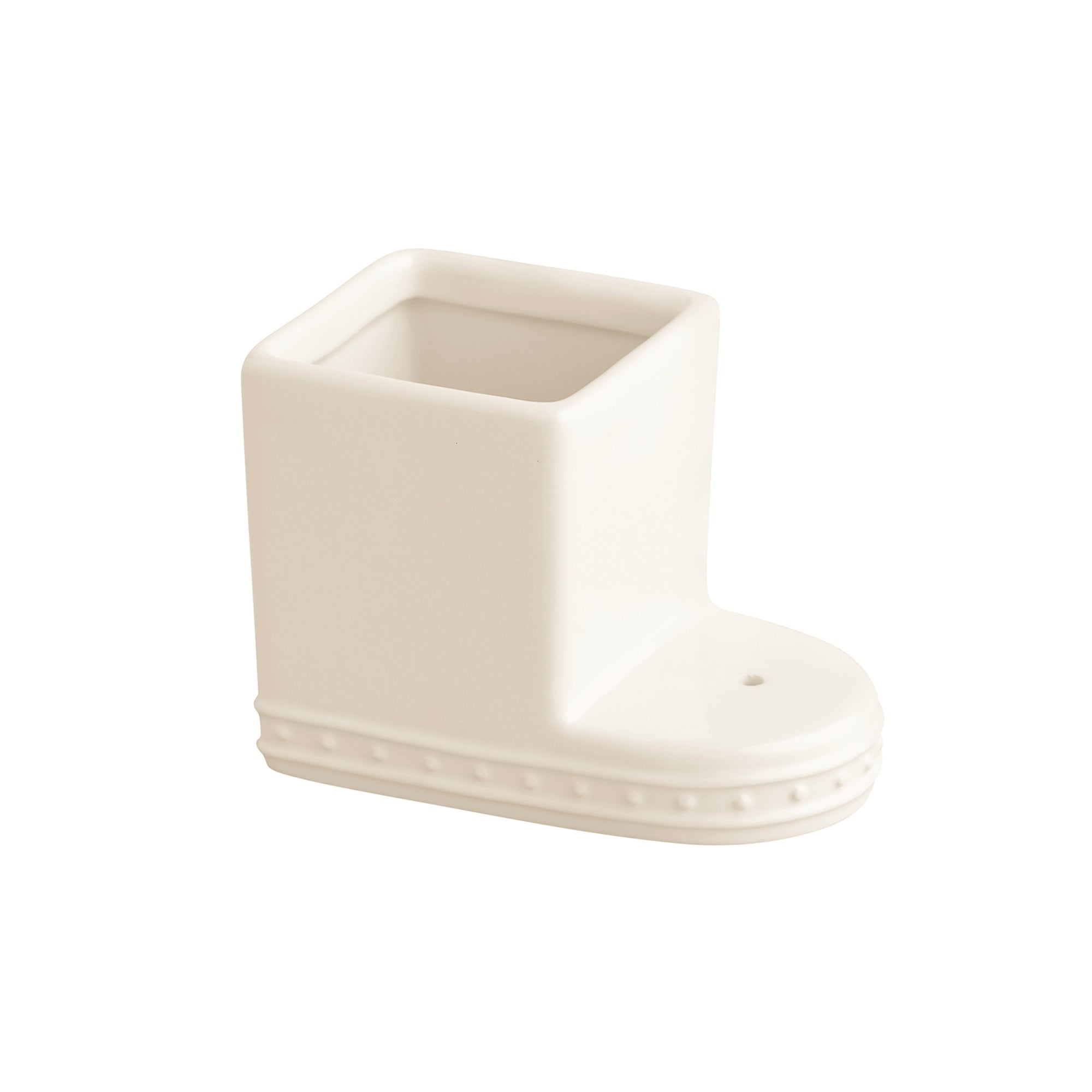 Nora Fleming off white ceramic square container