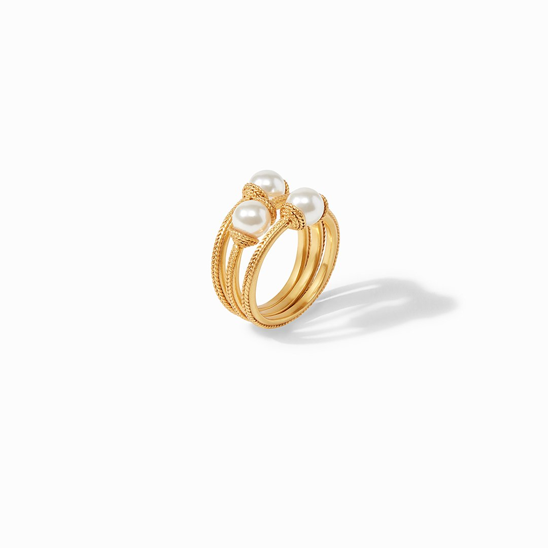 Julie Vos - Calypso Pearl Stacking Ring