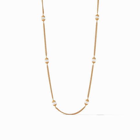 JULIE VOS - Calypso Pearl Station Necklace