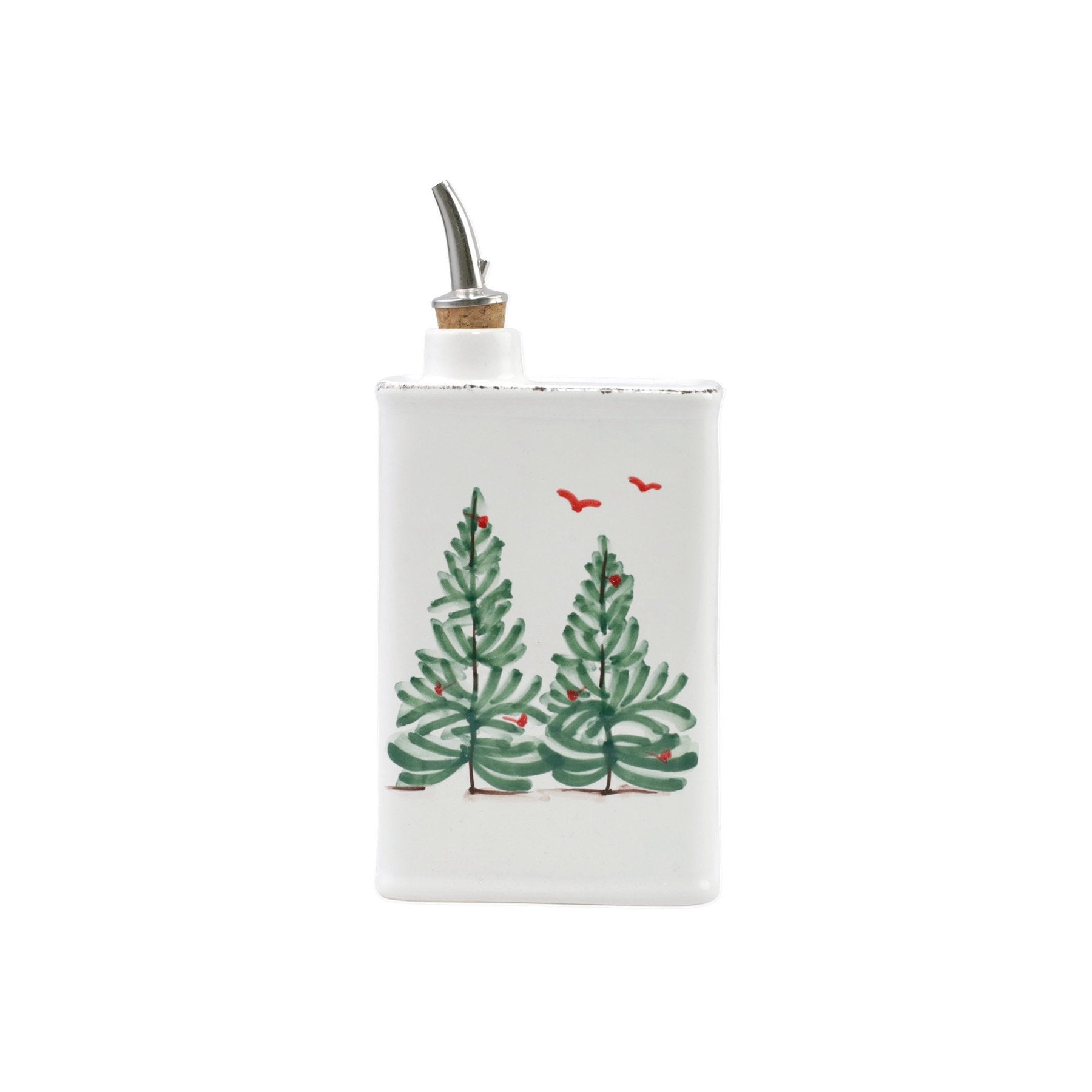 Vietri - Lastra Holiday Olive Oil Can