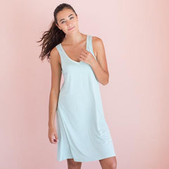 Faceplant Bamboo® V-Neck Nightgown aqua Mist