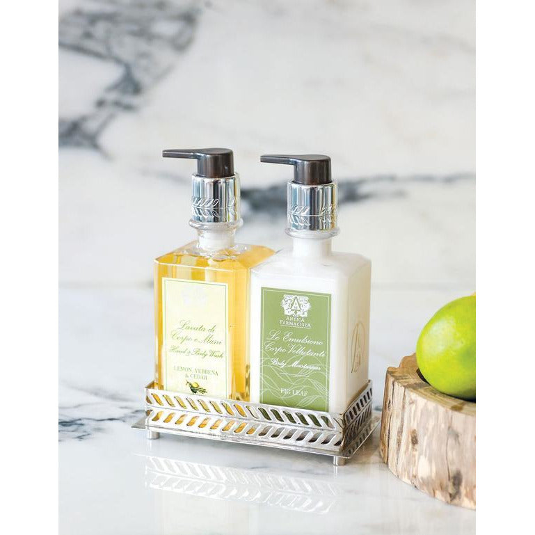Antica Farmacista - 10OZ HAND AND BODY WASH  Lemon, Verbena & Cedar paired with hand lotion