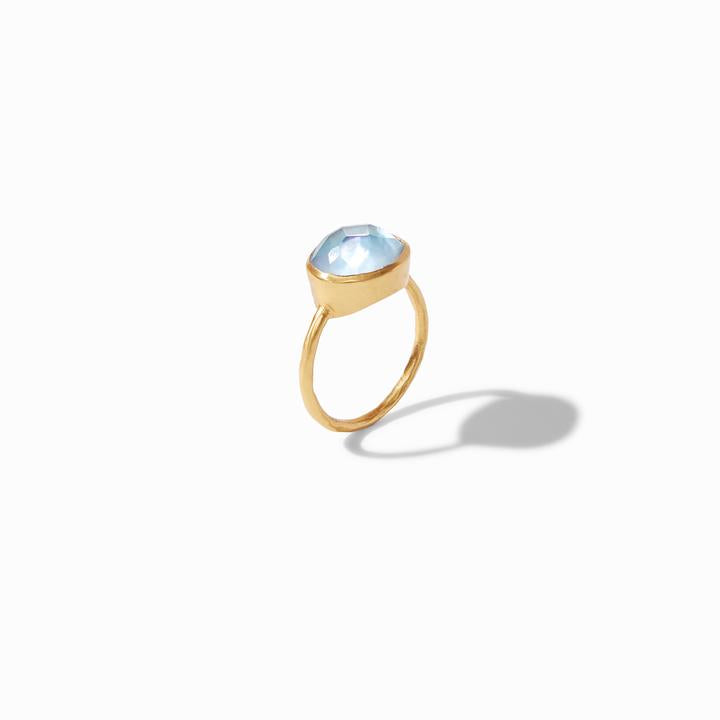 Julie Vos - Honey Stacking Ring, Chalcedony Blue Standing Up
