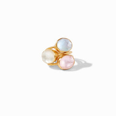 Julie Vos - Honey Stacking Ring, 3 Rings Stacked Laid Flat