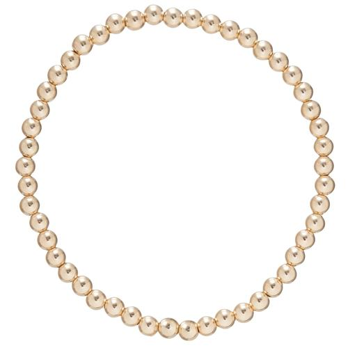 Enewton -  classic gold 4mm bead bracelet