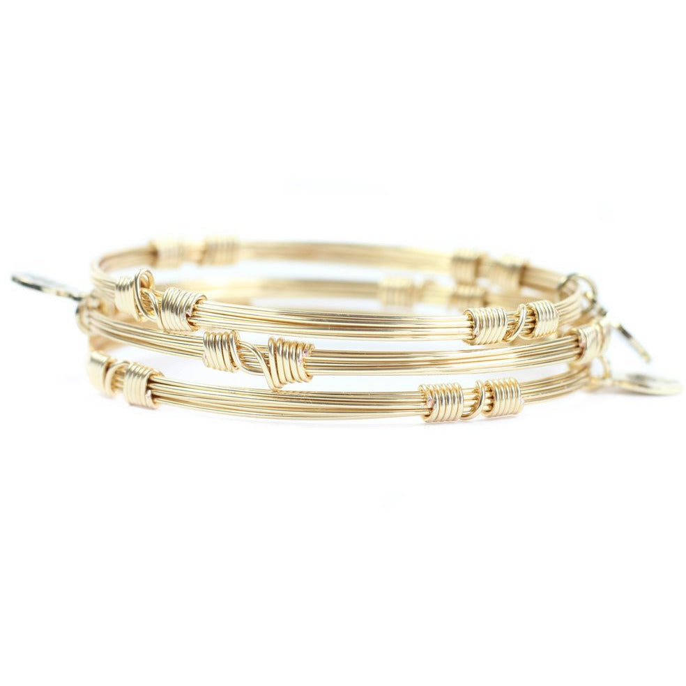 Bourbon and Boweties - GOLD BANGLE STACKERS